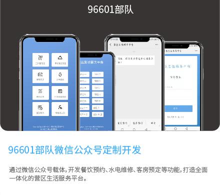 96601部队微信公众号定制开发